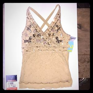 Forever 21 strap top sparkly NWT small S